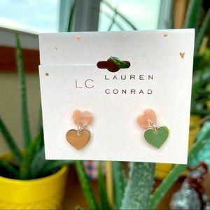 LC Lauren Conrad double heart earrings
